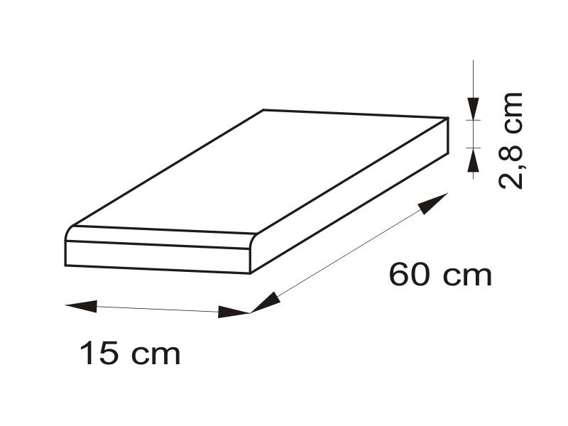 Pracovná doska 15 cm - BRW - Nika - BLAT/15